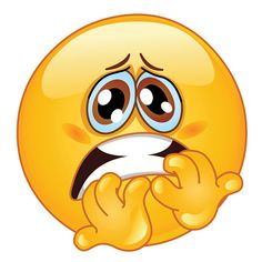 Worried Face Emoticon Clipart.