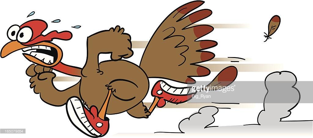 Worried Turkey Clipart.