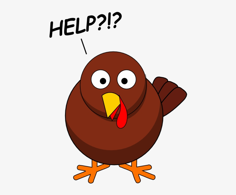 Free Worried Turkey Clipart.