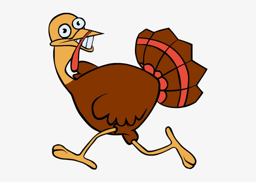 Running Turkey Png Clip Black And White Download.