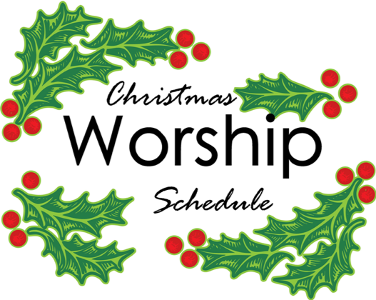 Christmas Worship Schedule.
