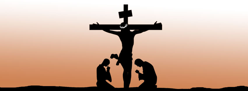 Jesus and the cross watermark clipart.