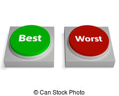 Worst best buttons show worse or better Clipart and Stock.