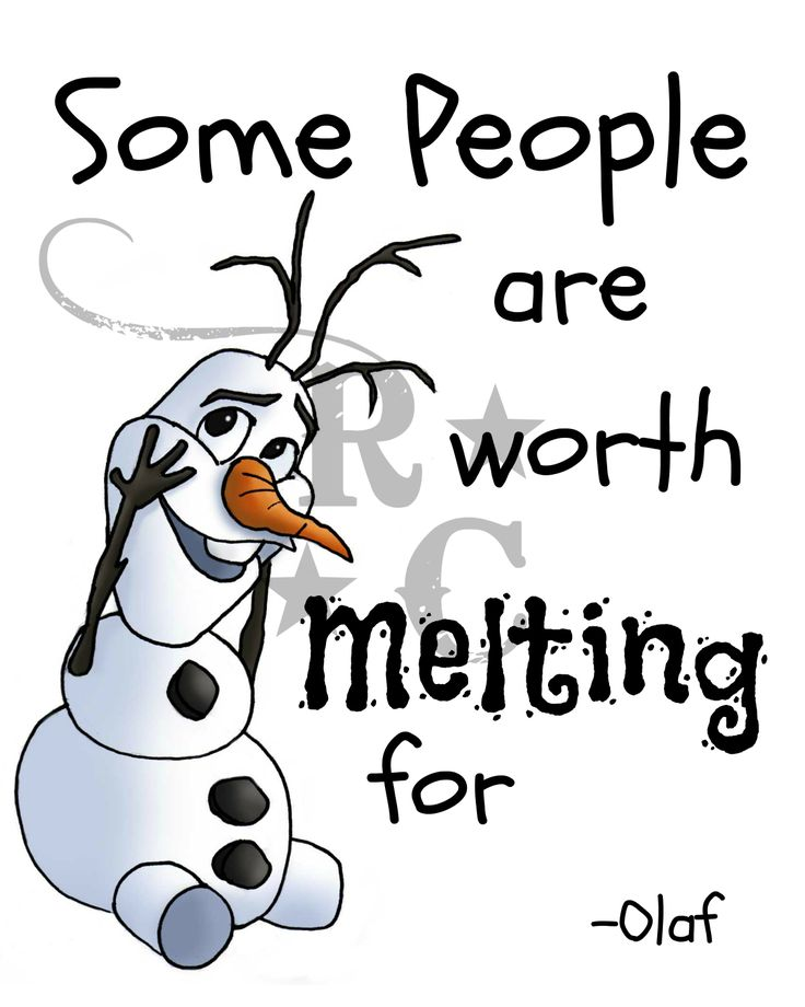 Some People Are Worth Melting For Clipart.