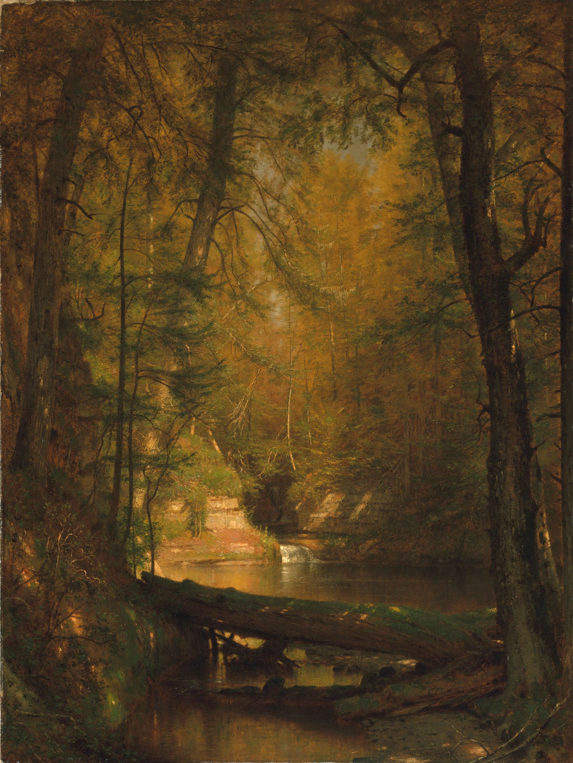 The Trout Pool by Thomas Worthington Whittredge.