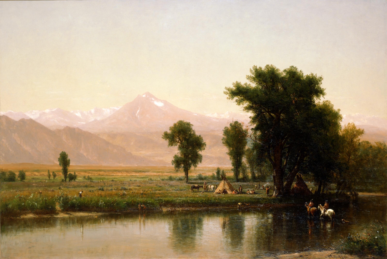 File:Crossing the River Platte by Worthington Whittredge, 1871.jpg.