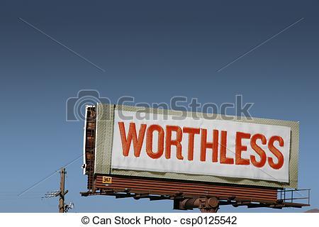 Stock Photo of Worthless.