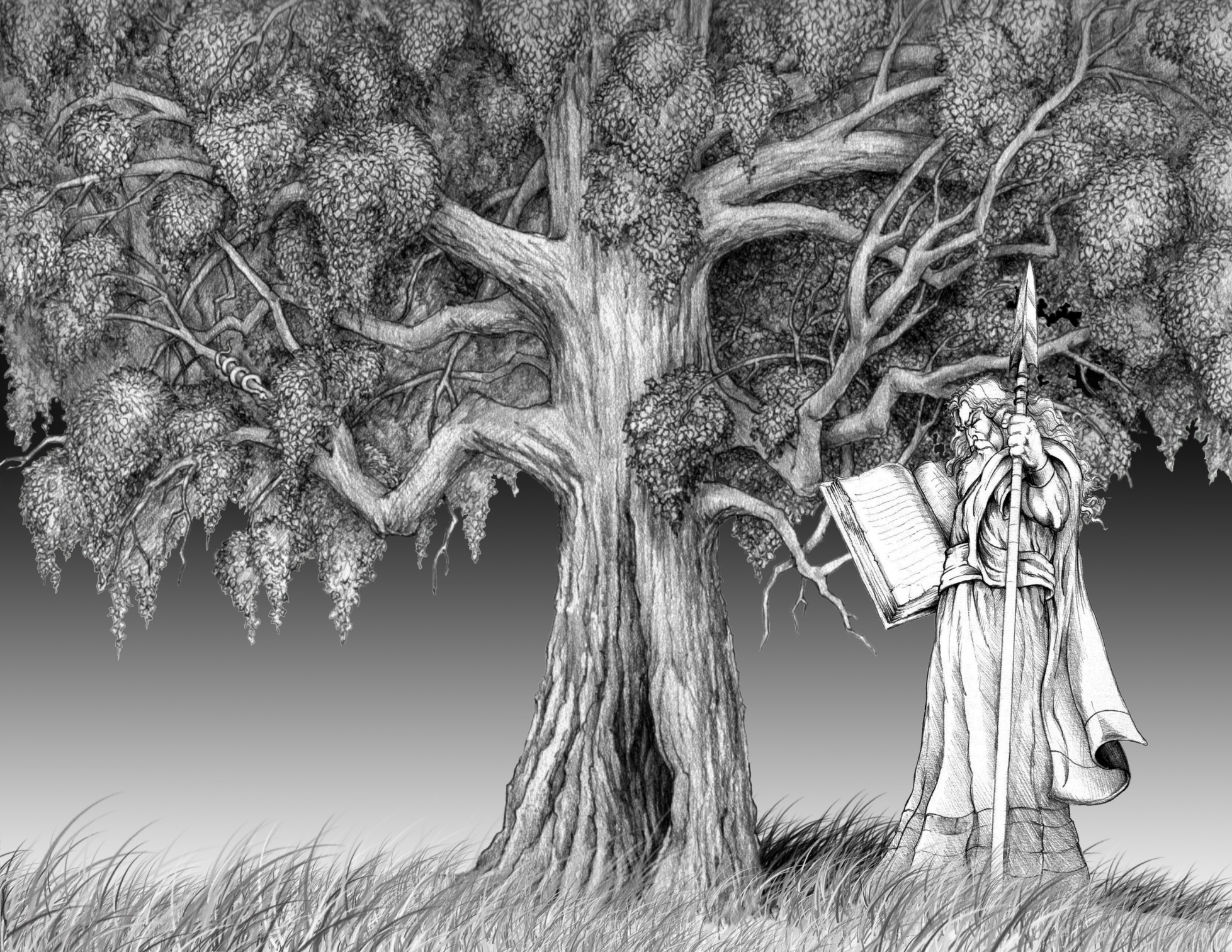 Wotan and Yggdrasil by Culhain on DeviantArt.