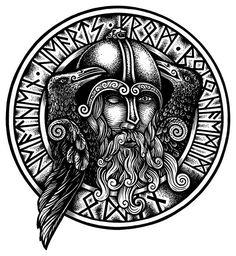 Odin Holding Mirmir's Head.