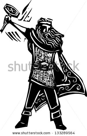Celtic Warrior Stock Images, Royalty.
