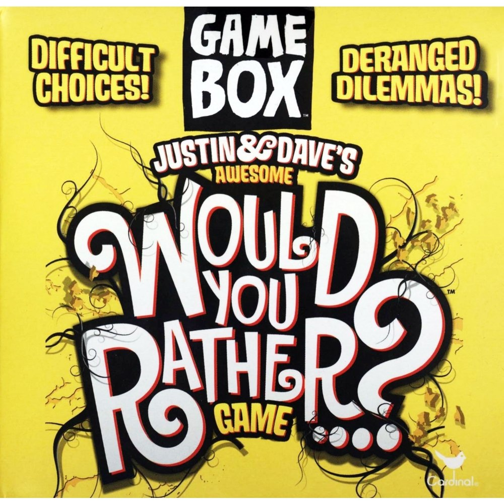 Justin & Dave's Awesome Would You Rather? Game Box.