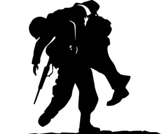 Wounded soldier clipart.
