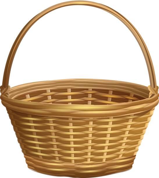 Best Wicker Basket Illustrations, Royalty.