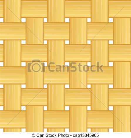 Clip Art Vector of woven straw seamless background.