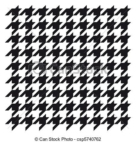 Clip Art of Woven houndstooth black and white csp5740762.