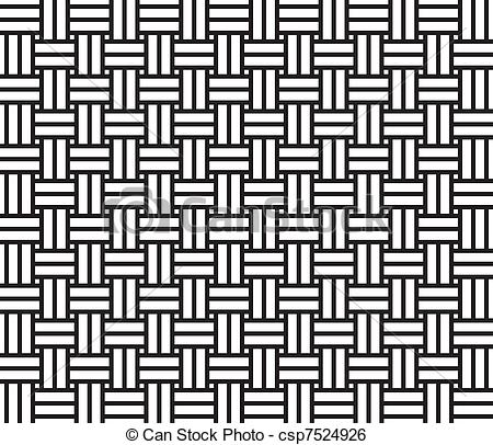 Clip Art Vector of Woven pattern seamless csp7524926.
