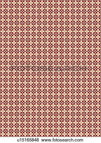 Clip Art of Red and Tan Cross Background Pattern u15165848.