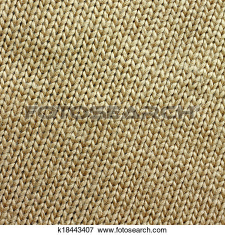 Picture of Tan Knitted Tweed Fabric Square Background k18443407.