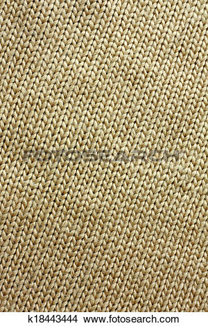 Stock Photo of Tan Knitted Tweed Fabric Background k18443444.