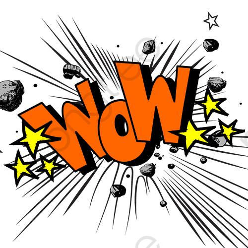 Wow Graffiti Creative Explosion, Wow, Painted, Material PNG.
