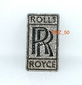 Details about **CRYSTAL*** ROLLS ROYCE Badge Logo Emblem Phantom Wraith  Drophead Ghost Dawn.
