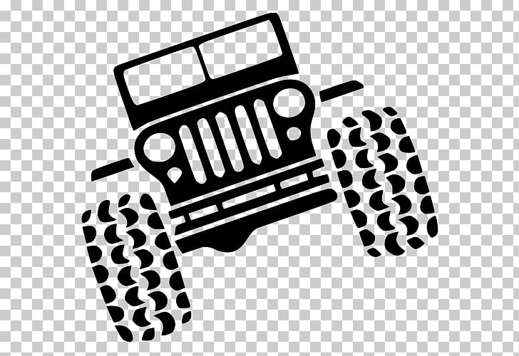 Jeep Wrangler Rubicon Car Silhouette, jeep PNG clipart.