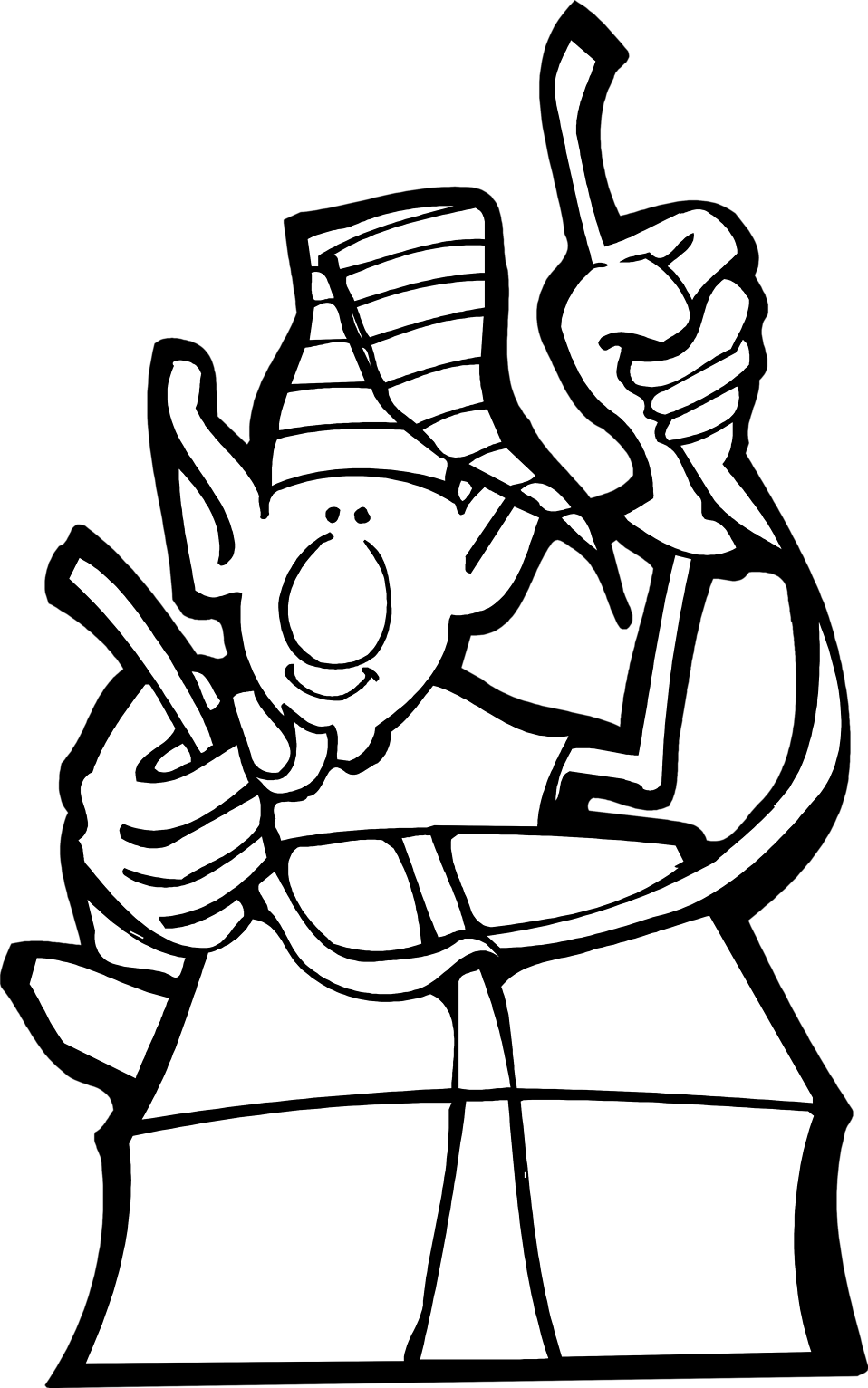 Drawing Elves Black And White.