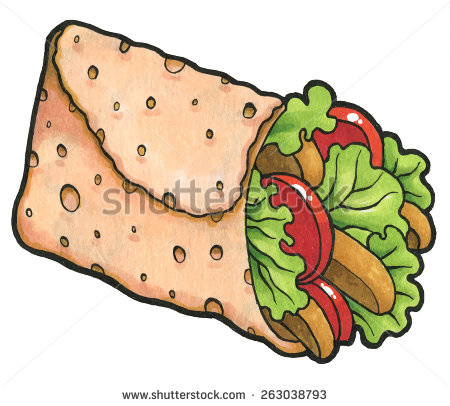 Tortilla wrap clipart.