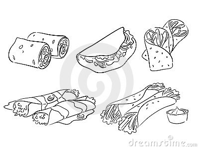 Food wrap clipart.