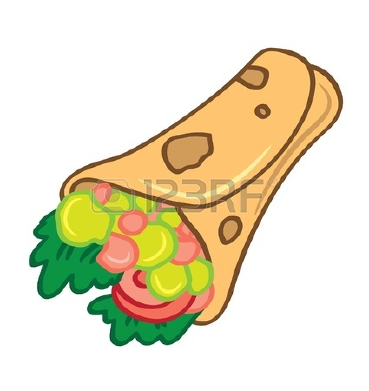 Sandwich Wrap Drawing.