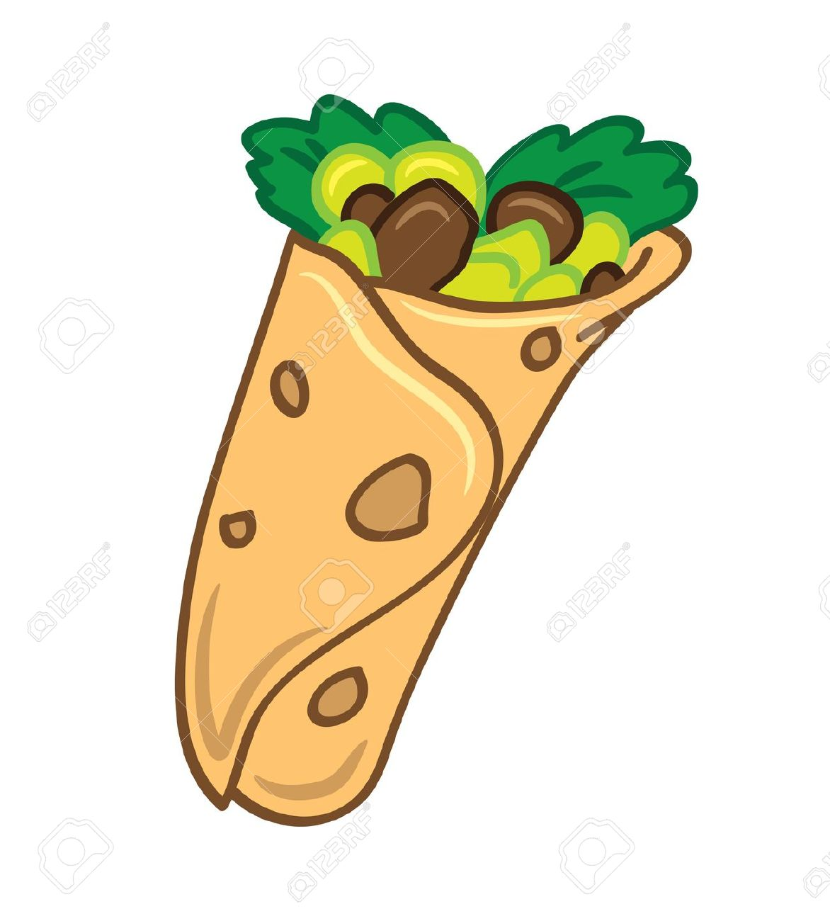 493 Tortilla Wrap Stock Vector Illustration And Royalty Free.