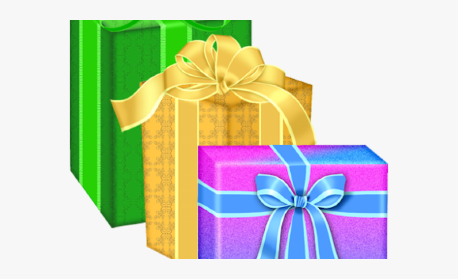 Birthday Present Clipart Yellow Gift.