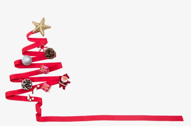 Red Ribbon Christmas Tree PNG, Clipart, Christmas, Christmas.