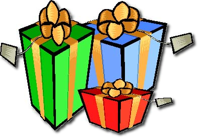Wrapped christmas presents clipart.