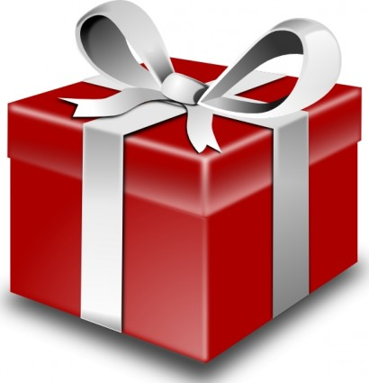 Present or a t wrapped vector clip art.
