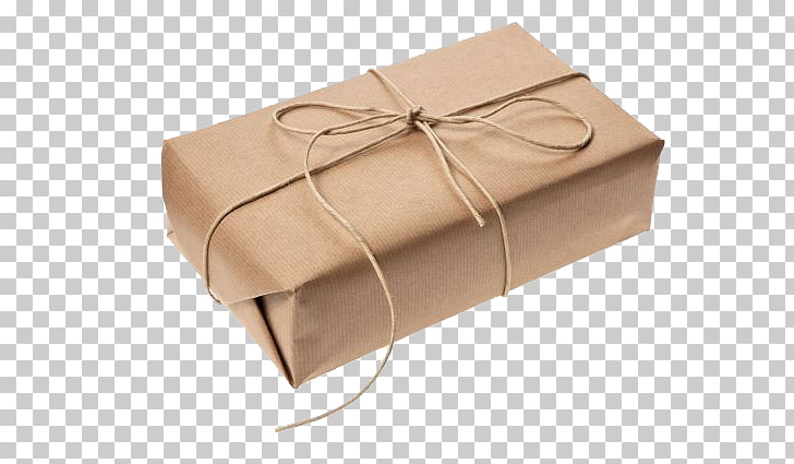 Kraft paper Gift Wrapping Packaging and labeling Box.