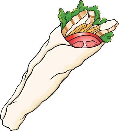 Wrap Sandwich Clip Art.