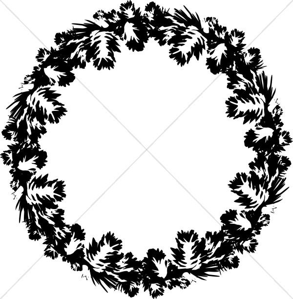 Black and White Pine Wreath.