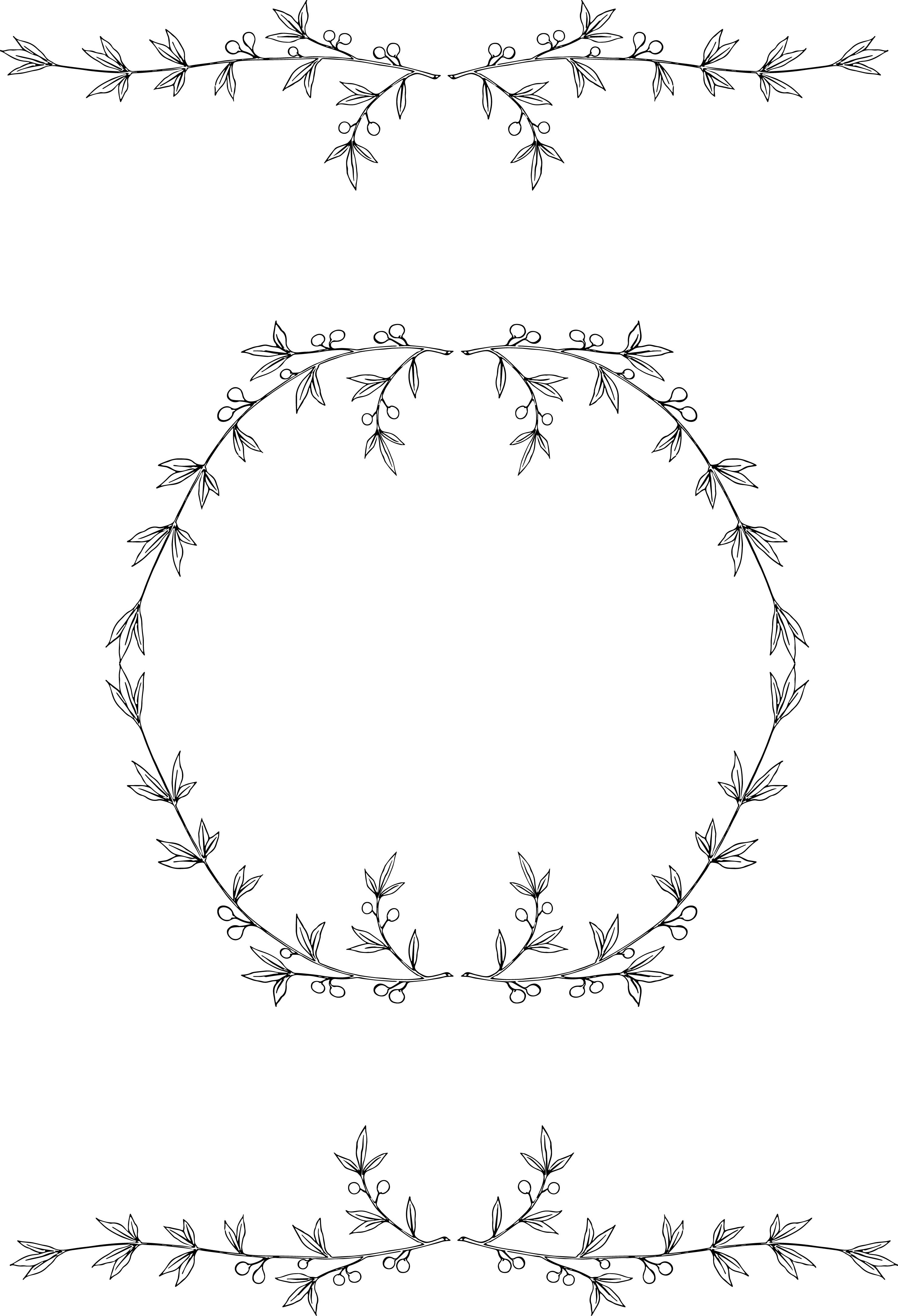 Free olive wreath clip art image.