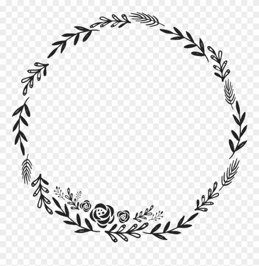 Border Frame Wreath Circle Round Fleaves Floralwreath.