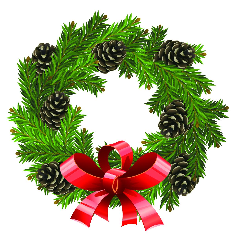 Christmas Wreath Border Clipart.