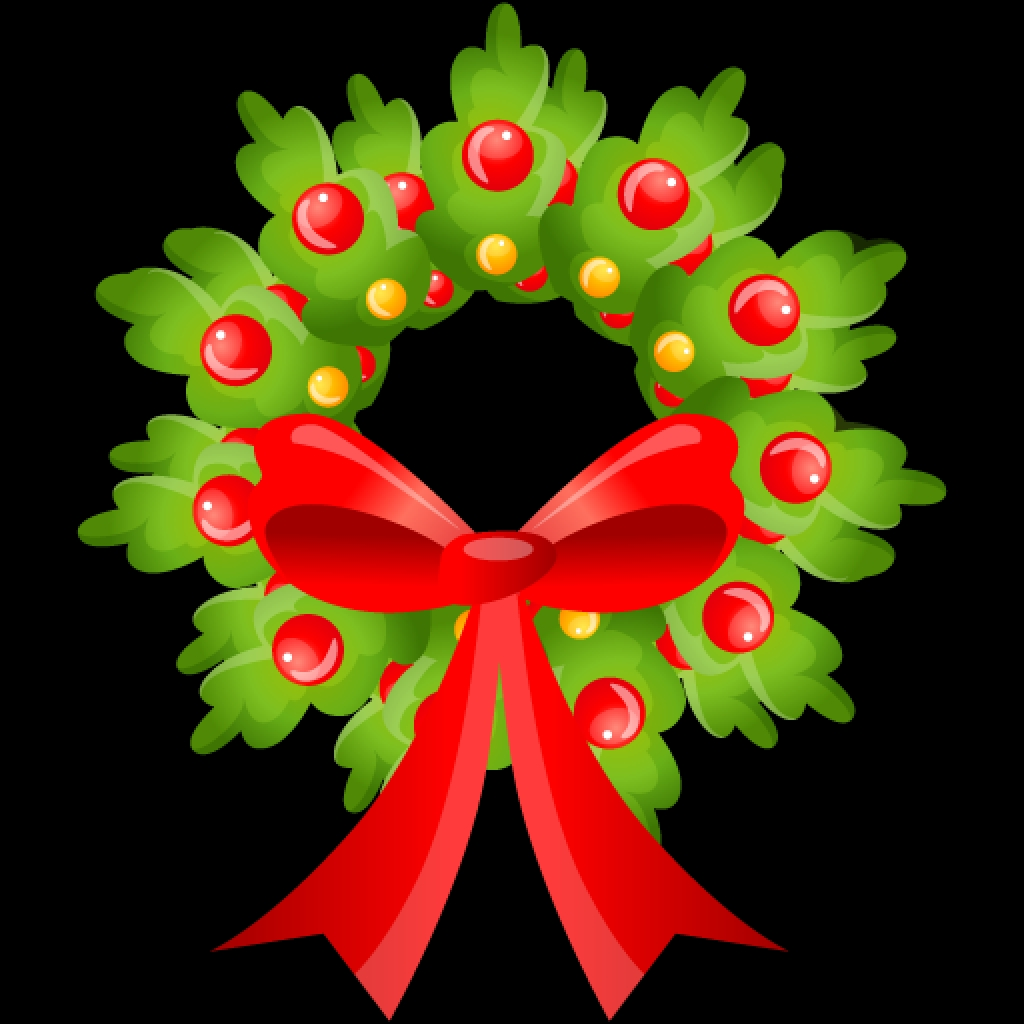 cute christmas wreath icon png clipart image clipart bestFree to.