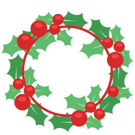 Free Christmas Wreath Clip Art.