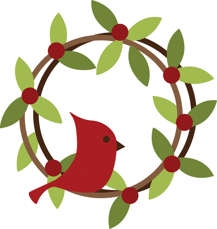 Christmas Wreath Svg Clipart.