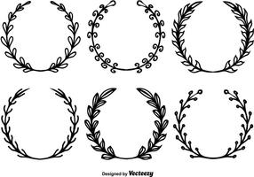 Floral Wreath Free Vector Art.