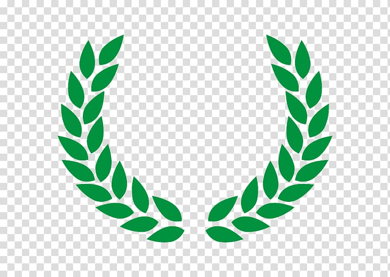 Green leaf logo, Laurel wreath Olive wreath , vektor.