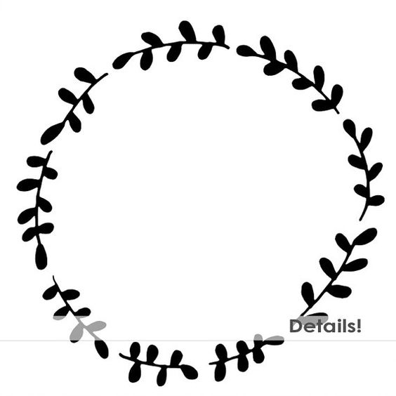 Free Black And White Wreath Clipart, Download Free Clip Art.