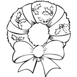 Black And White Wreath Clipart.