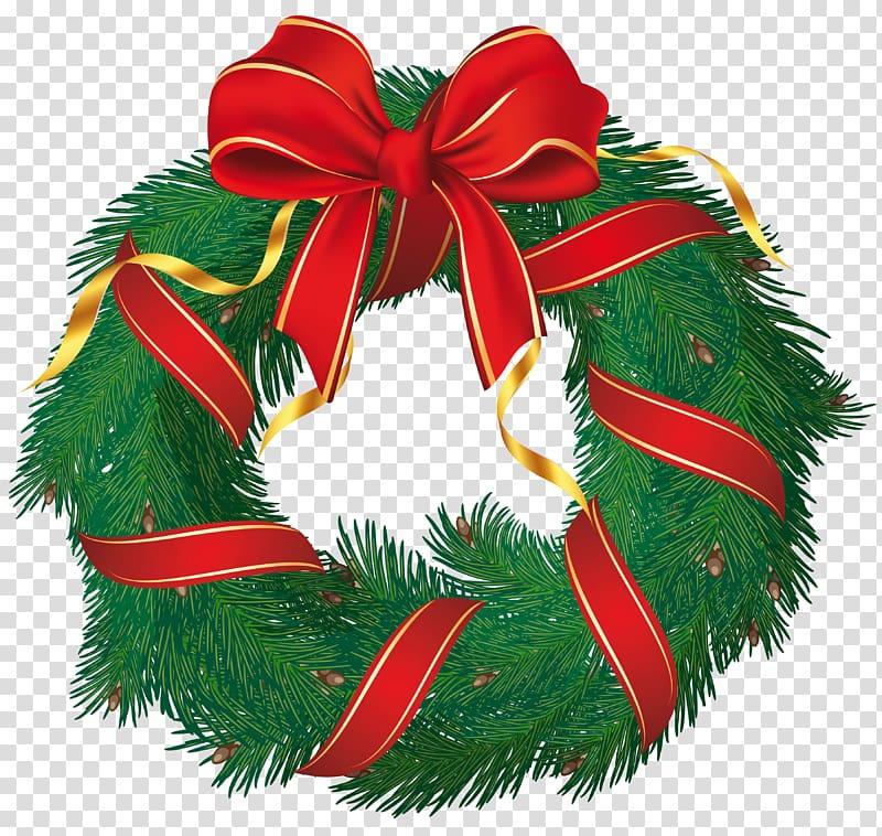 Green garlands wreath, Wreath Flower, Christmas Wreath with.