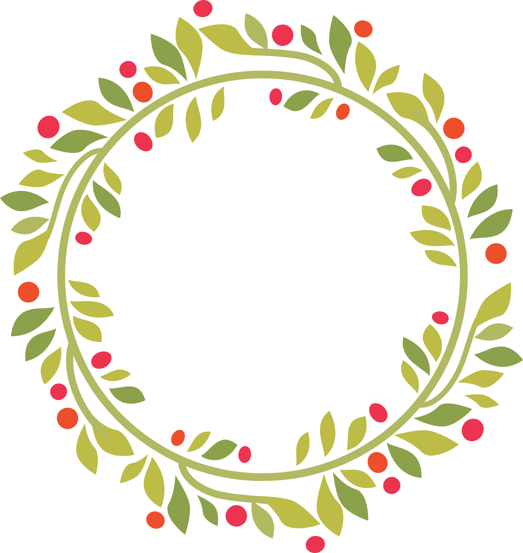 Wreath on Christmas clipart free image.